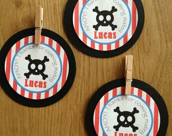 Pirate Personalised Party Thank You Tags ~ perfect for Pirate Birthday Party