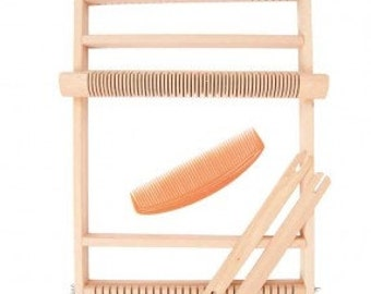 "Weaving loom kit wood size 19 x 29 cm (7.5"" x 11.41"" inches) encourage creativity with this starter set to learn weaving"