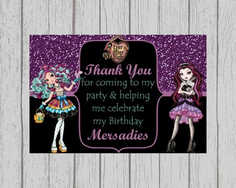 Birthday Party Thank You Cards