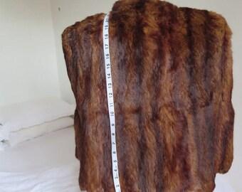 Dark Brown Mink Cape//Fur Stole//Mink Cape