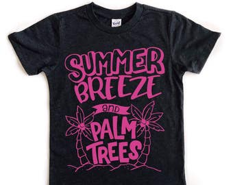 Summer Breeze and Palm Trees tee for infants, toddlers, and children