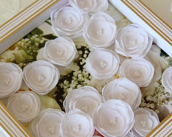 Fabric Flowers - Craft Supply - Wedding Crafts - DIY Bridal Bouquet - Wedding Table decor - Table Centerpieces -White Flowers -Ivory Flowers