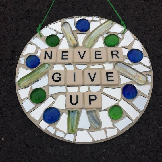 Stained Glass Mosaic Inspirational Motivational Quotes Affirmations Art with a Message Made in Hawaii Deesigns by Harris©