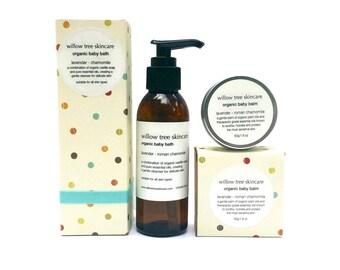 Organic Baby Duo, Organic Baby Balm and Organic Baby Bath.