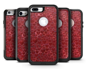Wine Watercolor Hearts - OtterBox Case Skin-Kit for the iPhone, Galaxy & More