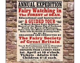 Fairy Watching - Folklore and Fairy Tale Greetings Card