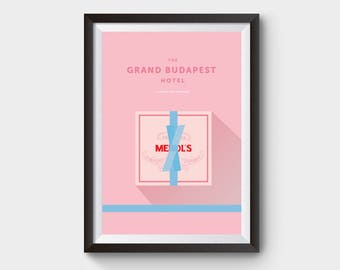 The Grand Budapest Hotel Mendl's Box - movie poster, art, film poster, lobby boy, minimalist movie poster, budapest hotel, wes anderson