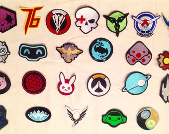 choice of any 1 Overwatch inspired patches