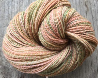 Forest path - handspun and handdyed BFL wool (339m)