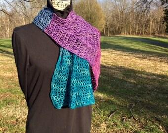 Open work scarf/shawl