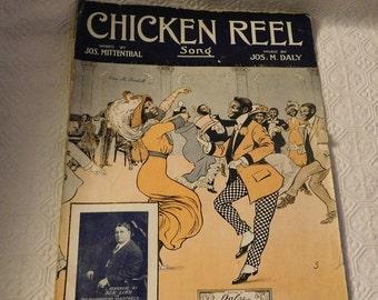 Black American Chicken Reel Piano Sheet Music