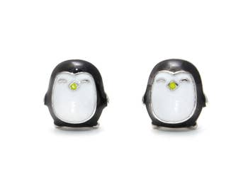 Penguin earrings 925 sterling silver