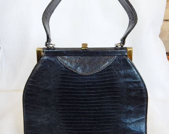Vintage Black Sterling Handbag 1950s Very Nice Condition - Chic