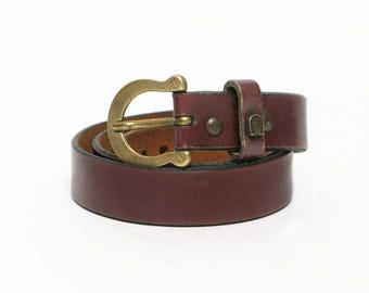 SALE  vintage Etienne Aigner horsebit leather belt