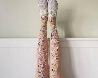 Leggy Confetti Gem Stockings