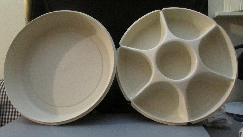 Vintage Tupperware Divided Vegetable Amp Dip Serving Container