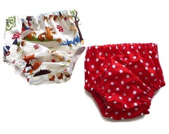 Diaper covers -  nappy covers- baby pants - baby bloomers - woodlands diaper cover - woodlands nappy cover  - baby shower gift girl