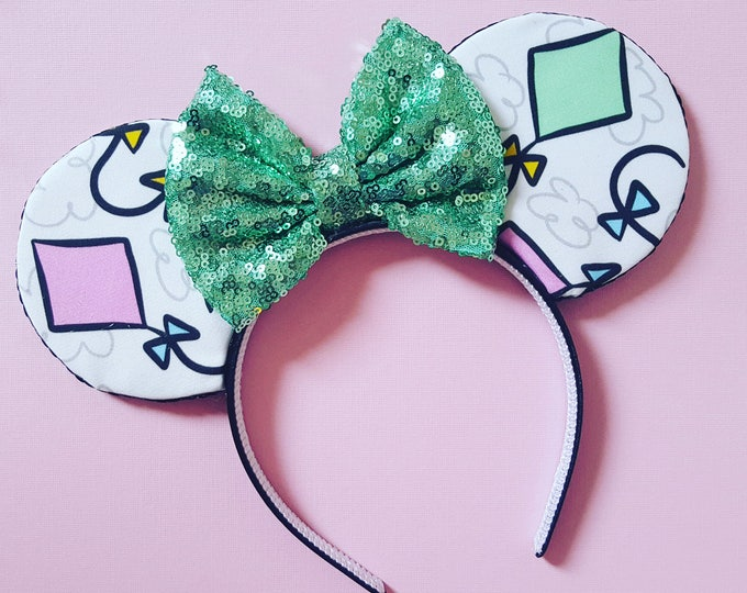 Kite Mouse Ears || Mouse Ears || Minnie Ears || Mouse Ears Headband || Let's Go Fly a Kite Ears || Sparkle Mouse Ears || RTS