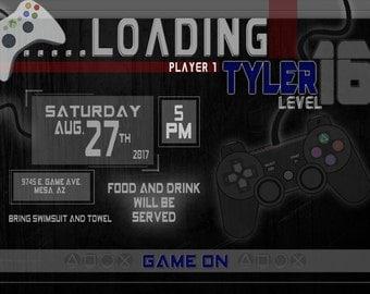 Gamer Party Invitation