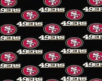 """SF 49ers Cotton Fabric - Fabric by the yard 60"""" wide"""