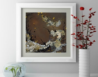 """Fine Art Giclee Print """"Reef In Space""""  // Original Artwork By Kayla Townsend // Paint and Decoupage On Canvas"""