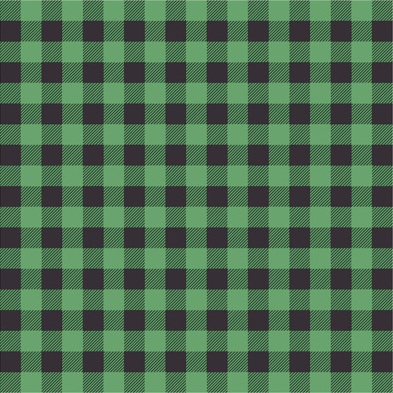 Green And Black Buffalo Plaid Heat Transfer Or Adhesive Vinyl