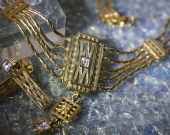 Stunning, Rare, Givenchy Art Deco Necklace and Earrings