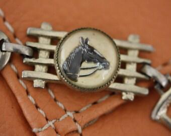 Vintage Silver Equestrian Bracelet