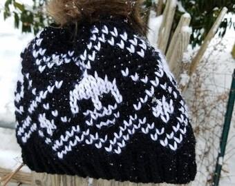 Skull Winter Hat Crocheted