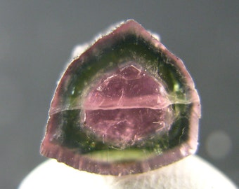 "Rare Watermelon Tourmaline Crystal Slice From Brazil - 0.3"" - 2.8 Carats"