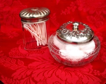 S. Kirk & Son Stieff Repousse Pattern Jam Jelly Jar Sterling Top