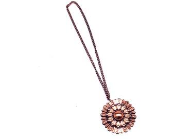 Renoir Copper Necklace Sunburst