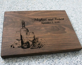 Personalized Cutting Board Wine Lovers Wine Connoisseur Hostess Gift Housewarming Kitchen Art