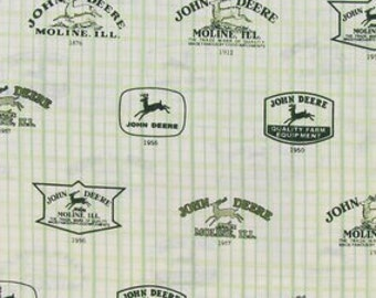 John Deere logo Fabric - 100% Cotton Quilting Apparel Crafts Home decor 1