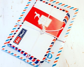 Vintage Air Mail Envelopes and Paper