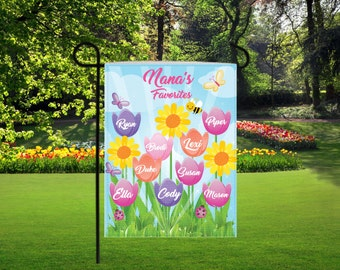 Personalized tulip garden flag, mothers day gifts, nana gifts, garden decor, personalized garden decor, backyard signs, tulip garden flag,