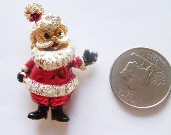 Vintage Santa Claus Brooch / Pin / Santa Jewelry / Christmas Brooch / Pin / Christmas Jewelry / Santa Items / Santa Decor