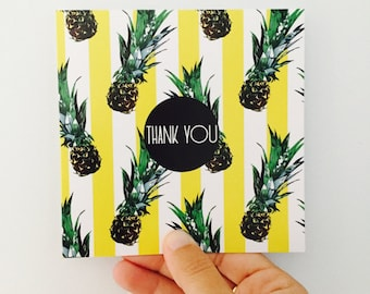 Thank You Card {PINEAPPLE STRIPES}