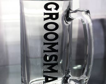 Groomsman beer mug