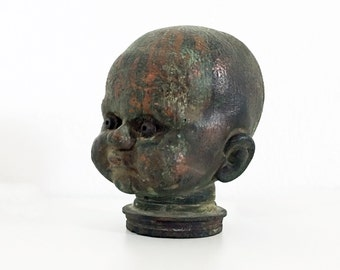 1930s Vintage French Industrial Doll Head Mold Vintage Baby Head