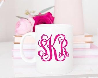 Monogram Coffee Mug, Monogram Coffee Cup