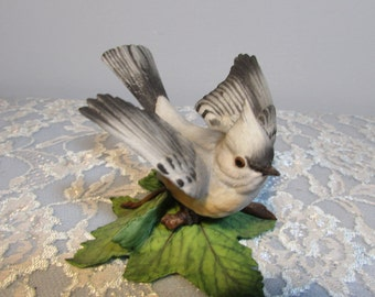 Lenox Tufted Titmouse Garden Bird 1986 Fine Porcelain Figurine