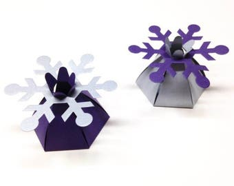 Winter Wedding Favor Winter Bridal Shower Snowflake Wedding Favors Snowflake Favors Purple Favors Silver Favors
