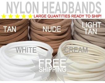 WHOLESALE Nylon Baby Headband / DIY Headband Newborn Skinny Very Stretchy One Size Fits most Nylon/spandex