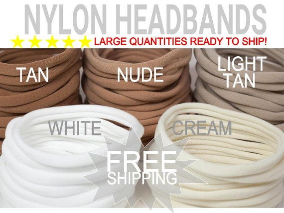 WHOLESALE Nylon Baby Headband / DIY Headband Newborn Skinny Very Stretchy One Size Fits most Nylon/spandex