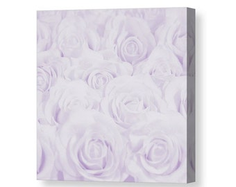 Pastel Purple Roses Canvas Print, Botanical Print, Flower Photography, Home Decor, Nature, Baby, Nursery Decor Lavender, Lilac -NO. 1610-6
