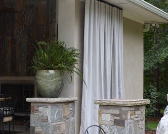 Outdoor Pleated drapery panels made to order