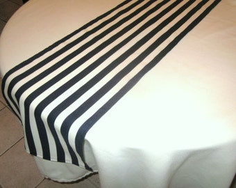 Navy and White Stripe Table Runner, Wedding Table, Bridal Shower, Nautical,  Baby Shower, Graduation,  Birthday