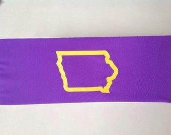 Iowa, UNI, Spandex Headband