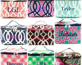 Monogrammed Makeup Bag  Personalized Makeup Bag  Bridesmaid Gift  Wedding Party Gifts  Monogrammed Cosmetic Bag